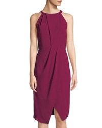 Tahari By Arthur S. Levine Olga Halter Neck Dress Boysenberry Pink