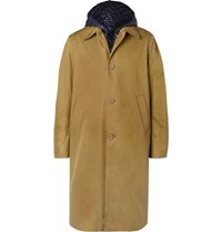 Acne Studios Midnight Cotton Twill Coat With Detachable Quilted Shell Gilet Green