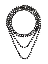 Ann Demeulemeester Beaded Necklace Black