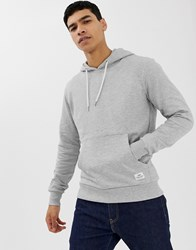 Solid Over The Head Hoodie In Grey