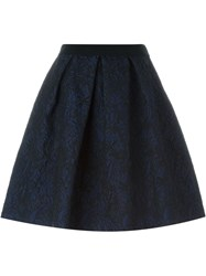 Eggs Pleated Brocade Skirt