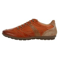 Geox Symbol Leather Trainers Whisky