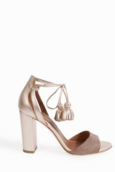 Malone Souliers Women S Gladys Heeled Sandals Boutique1 Glassa Rose Gold