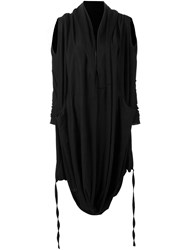 Barbara I Gongini Asymmetric Cardigan Black