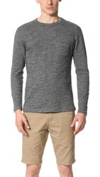 Todd Snyder Double Face Jersey Long Sleeve Tee Grey
