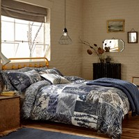 Clarissa Hulse Indigo Patchwork Duvet Cover Blue