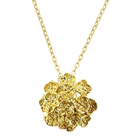 London Road 9Ct Yellow Gold Posy Pendant Necklace