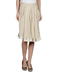 Gentryportofino Knee Length Skirts Beige