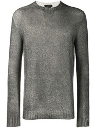 Avant Toi Crew Neck Knitted Sweater Grey