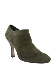 Nina Lolathe Suede Booties Olive Green