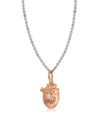 Bjorg Anatomic Heart Locket Necklace Pink