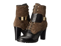 See By Chloe Suede Flat Leather Lace Up Bootie