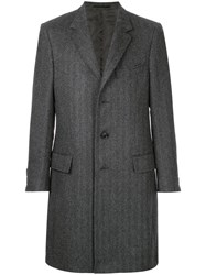 Gieves And Hawkes Oversized Coat Alpaca Grey