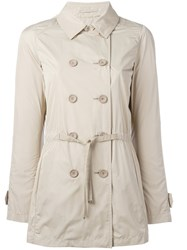 Herno Belted Trench Coat Nude Neutrals