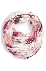 Junior Women's David And Young 'Floral Grid' Infinity Scarf Pink Pink Multi