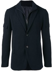 Emporio Armani Layered Track Top And Blazer Blue