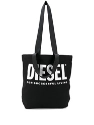 Diesel Logo Print Canvas Shopper Tote 60