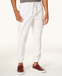 Ring Of Fire Men's Relaxed Fit Jogger Pants Created For Macy's White
