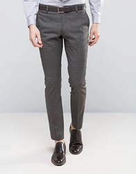 Selected Homme Skinny Suit Trousers In Check Brownie