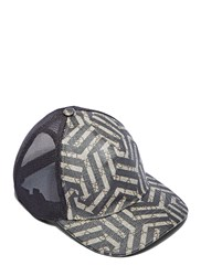 Gucci Geometric Print 6 Panel Baseball Cap Black