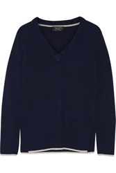 Rag And Bone Flavia Cashmere Sweater Navy