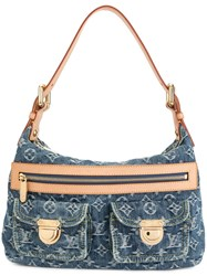 Louis Vuitton Vintage Baggy Pm Monogram Denim Shoulder Bag Blue
