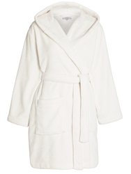 John Lewis Short Hooded Robe Ivory