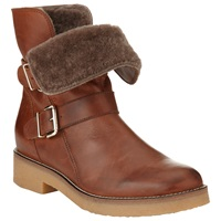 Collection Weekend By John Lewis Poitiers Leather Faux Fur Ankle Boots Brown