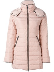 Armani Jeans Hooded Padded Coat Pink And Purple