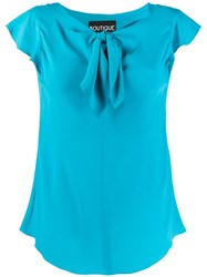Boutique Moschino Knot Detail Short Sleeve Top 60
