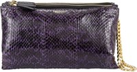 Zagliani Ayers And Leather Clelia Wristlet Purple