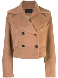 Proenza Schouler Short Alpaca Peacoat Brown