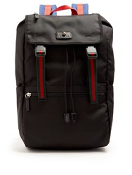 Gucci Technical Canvas Backpack Black Multi
