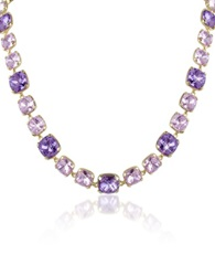A Z Collection Amethyst Crystal Necklace Purple