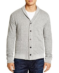 Velvet Shawl Collar Cardigan Heather Grey