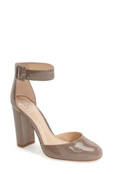 Vince Camuto Women's 'Shaytel' Block Heel Pump Grey Mirage Patent Leather