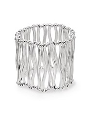 Saks Fifth Avenue Twig Stretch Cuff Bracelet Silver