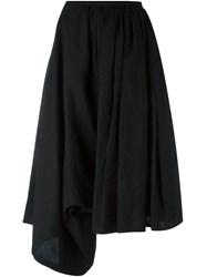 Yohji Yamamoto Draped Cropped Trousers Women Linen Flax 2 Black