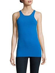 Sandro Sana Solid Roundneck Tank Top Turquoise
