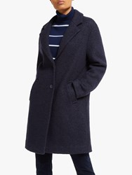 John Lewis Collection Weekend By Moxie Textured Boucle Coat Navy