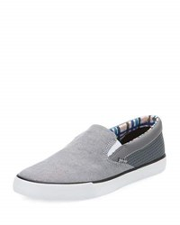 Ben Sherman Percy Perforated Slip On Sneaker Gray