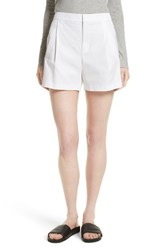 Vince Women's High Waist Cotton Shorts White