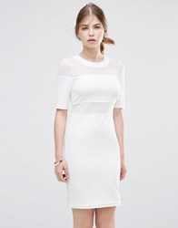 Noisy May Gertrud Bodycon Dress White