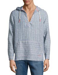 Tommy Bahama Brazillionare Striped Hoodie Bering Blue