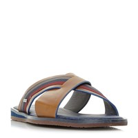 Ted Baker Farrull Tape Cross Strap Sandals Tan