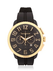 Tendence Gulliver 47Mm Yellow Chrono Watch Black Gold