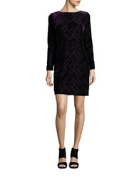Vince Camuto Velvet Bodycon Dress Black Purple