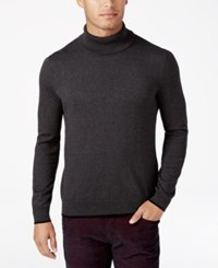 Inc International Concepts Men's Fine Gauge Turtleneck Only At Macy's Heather Onyx