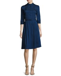 A.P.C. Marion Band Collar Shirtdress Indigo