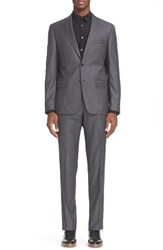 John Varvatos Men's Star Usa Trim Fit Solid Wool Suit